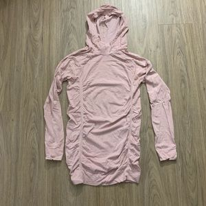 Fabletics Ruched Hooded Long Sleeve Top